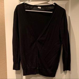 Black lightweight cotton sweater from J Crew